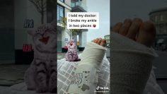 Tik Tok broken leg at super