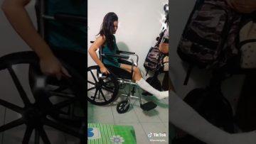 TikTok Video broken leg in a wheelchair