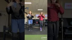 Short leg cast purple woman crutches