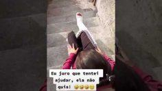 TikTok Video going down with leg cast